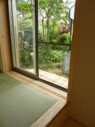 kさまafterキッチンから庭を眺める1